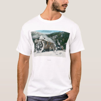 View of a Rotary Snow Plow in the Mountains T-Shirt