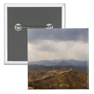 View of a section of the Great Wall of China 2 Inch Square Button