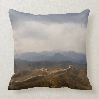 View of a section of the Great Wall of China Throw Pillow