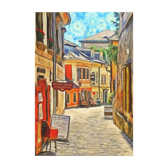 View of a side street in the town of Kutná Hora. Canvas Print