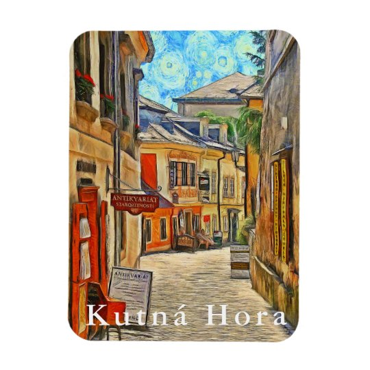 View of a side street in the town of Kutná Hora. Magnet