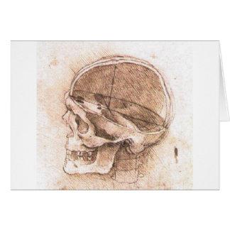 View of a Skull by Leonardo Da Vinci circa 1489 Card