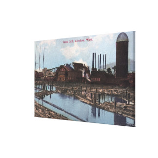 View of a Slade Mill Stretched Canvas Prints
