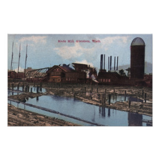 View of a Slade Mill Poster