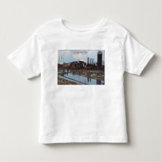View of a Slade Mill T-shirt