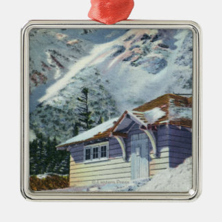View of a US Forest Service Ski Shelter Metal Ornament