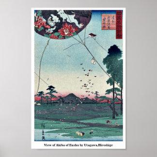 View of Akiba of Enshu by Utagawa,Hiroshige Poster