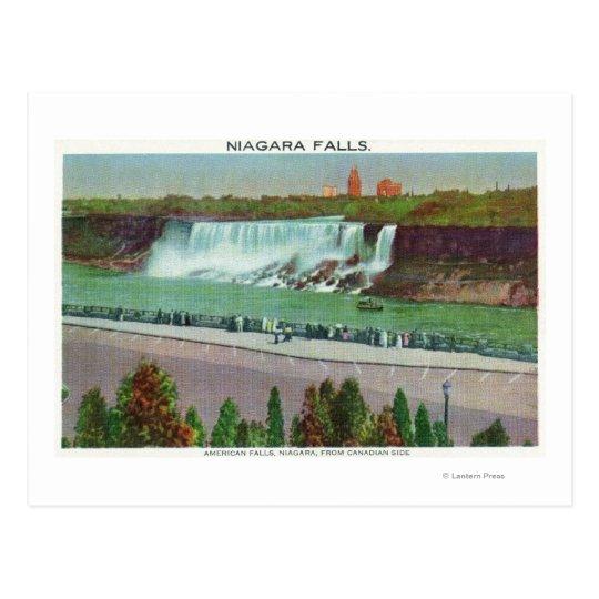 View of American Falls & Coast Postcard