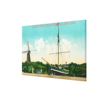 View of Amundsen s Arctic Sloop Stretched Canvas Print