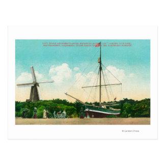 View of Amundsen's Arctic Sloop Postcard