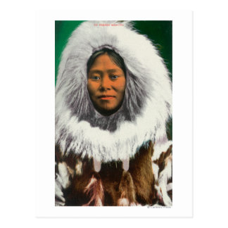 View of an Eskimo Beauty Postcard