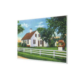 View of an Old Cape Cod Home Canvas Prints