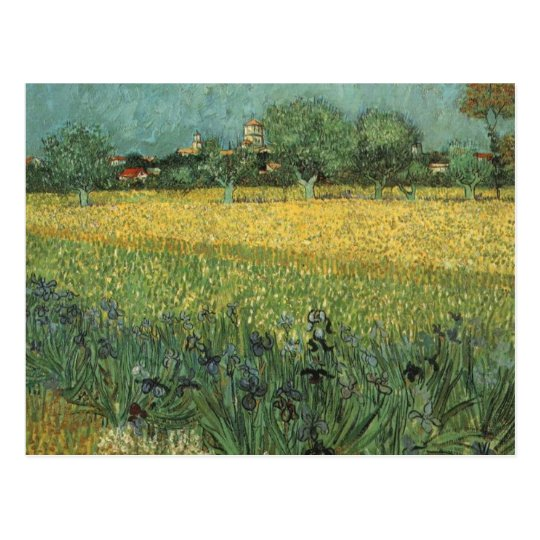 View of Arles with Irises Postcard