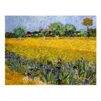 View of Arles with Irises Vincent van Gogh paint Postcard