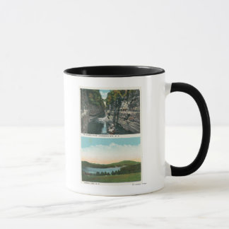 View of Ausable Chasm and Saranac Lake Mug