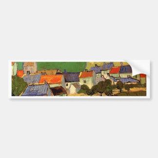 View of Auvers Vincent van Gogh Bumper Sticker