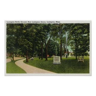 View of Battle Ground, now Lexington Green Poster