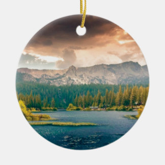 view of beauty and wonder ceramic ornament