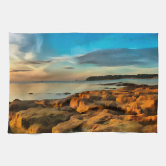 View of Bembridge from Saint Helen's Bay Kitchen Towel