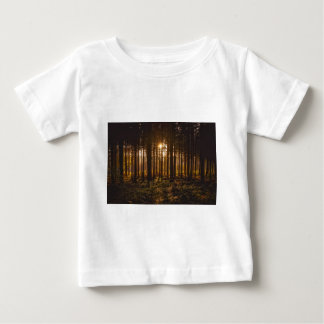View of Black Trees and Sun Baby T-Shirt