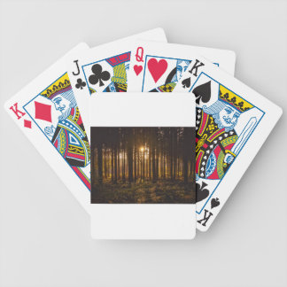 View of Black Trees and Sun Bicycle Playing Cards
