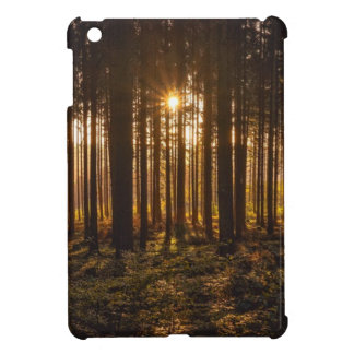 View of Black Trees and Sun iPad Mini Cases