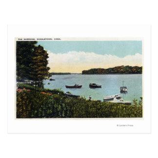View of Boats at the Narrows Postcard
