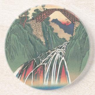 View of Bridge Over Ina River, Nojiri by Hiroshige Coaster