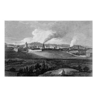 View of Bristol from Pile Hill, engraved by Posters