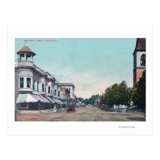 View of BroadwayChico, CA Postcard