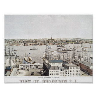 View of Brooklyn, L.I. From U.S. Hotel, New York b Poster