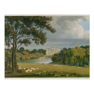 View of Burghley House, seat of the Marquis of Exe Postcard