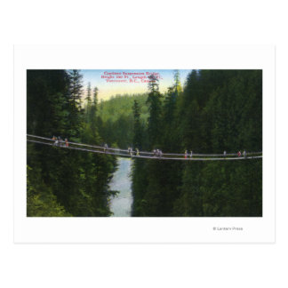 View of Capilano Suspension Bridge Postcard