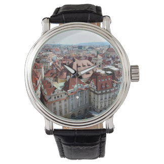 View of capital city of Prague in Czech Republic Watch