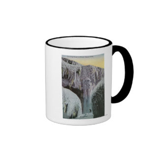 View of Cave of the Winds in Winter Ringer Mug