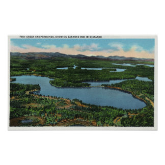 View of Chapel Pond Road near Keene Valley Poster