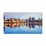 View of Chicago skyline with reflection