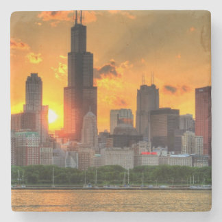 View of Chicago's skyline from  Adler Stone Coaster