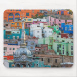 View of city buildings mouse pad