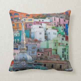 View of city buildings throw pillow