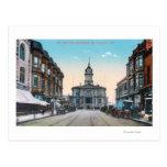 View of City Hall Bldg from Washington St Postcard