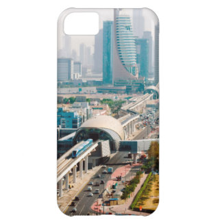 View of city metro line and skyscrapers iPhone 5C case
