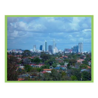 View Of City Of Perth From A Dog Swamp Hilltop Postcard