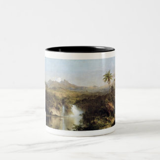 View of Cotopaxi, Ecuador, Frederick Edwin Church Two-Tone Coffee Mug