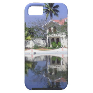 View of cottages and lagoon water in Alleppey iPhone 5 Covers