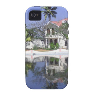 View of cottages and lagoon water in Alleppey iPhone 4 Cover