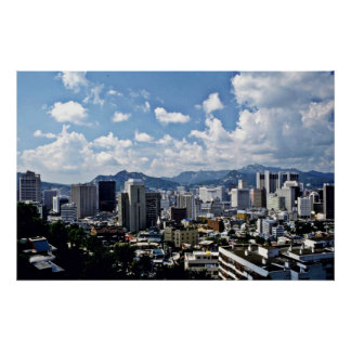 View Of Downtown Seoul Poster