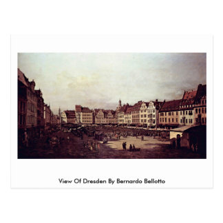 View Of Dresden By Bernardo Bellotto Postcard