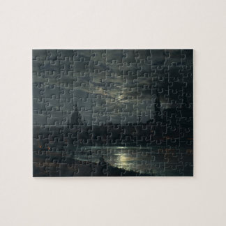 View of Dresden by Moonlight - J.C. Dahl Jigsaw Puzzle