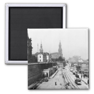 View of Dresden from the Bruehlsche Terrasse Magnet